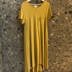 Extra Soft Medium Mustard Carly Swing Dress